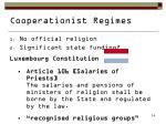 cooperationist regimes