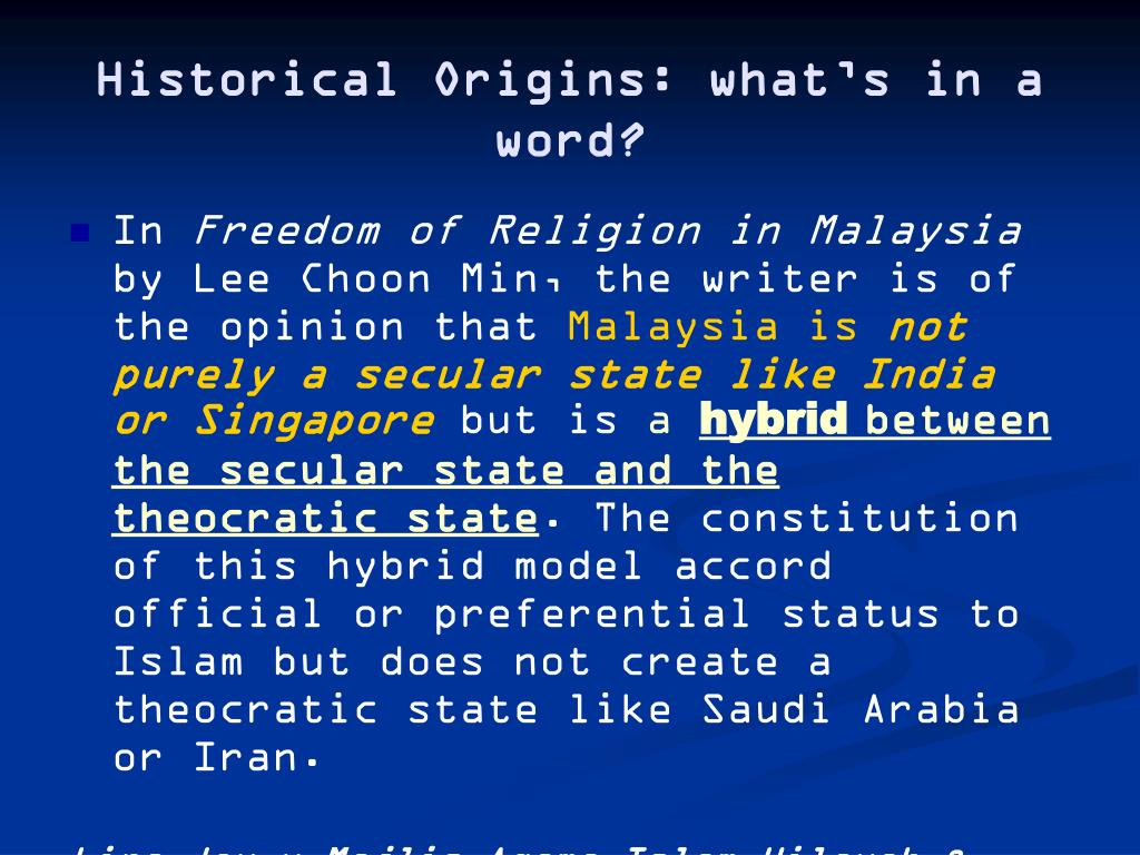 Historical Origins: what's in a word?