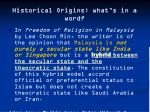 historical origins what s in a word