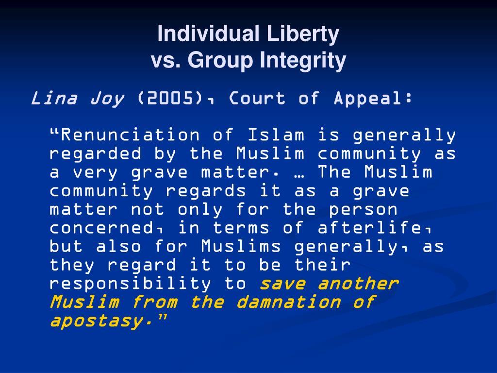 Individual Liberty