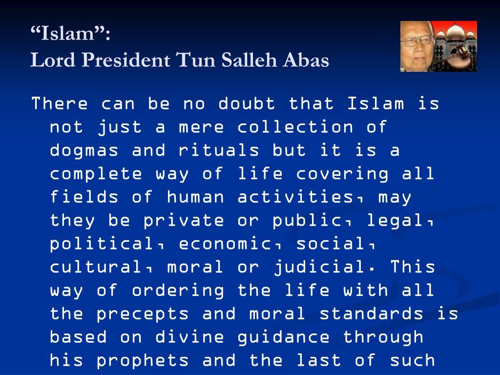 """""""Islam"""":"""