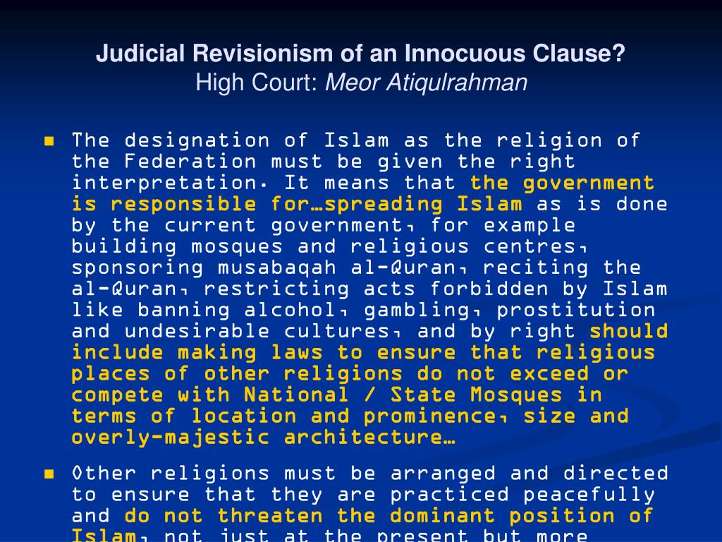 Judicial Revisionism of an Innocuous Clause?