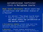 jurisdictional conflicts civil religious courts