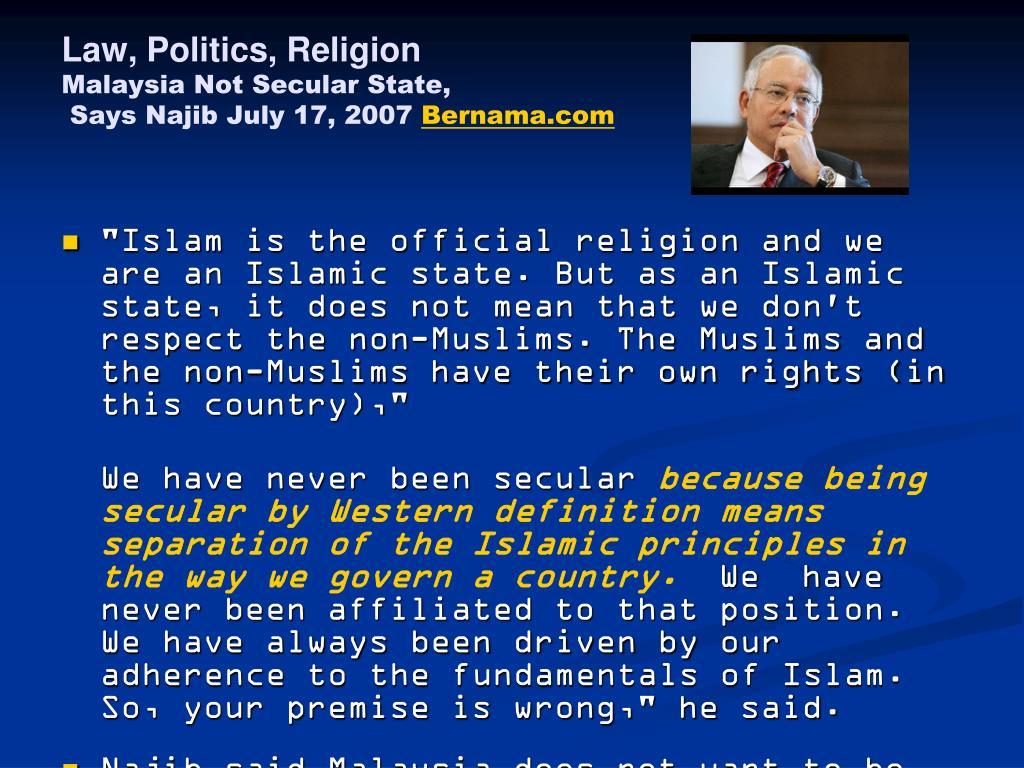 Law, Politics, Religion