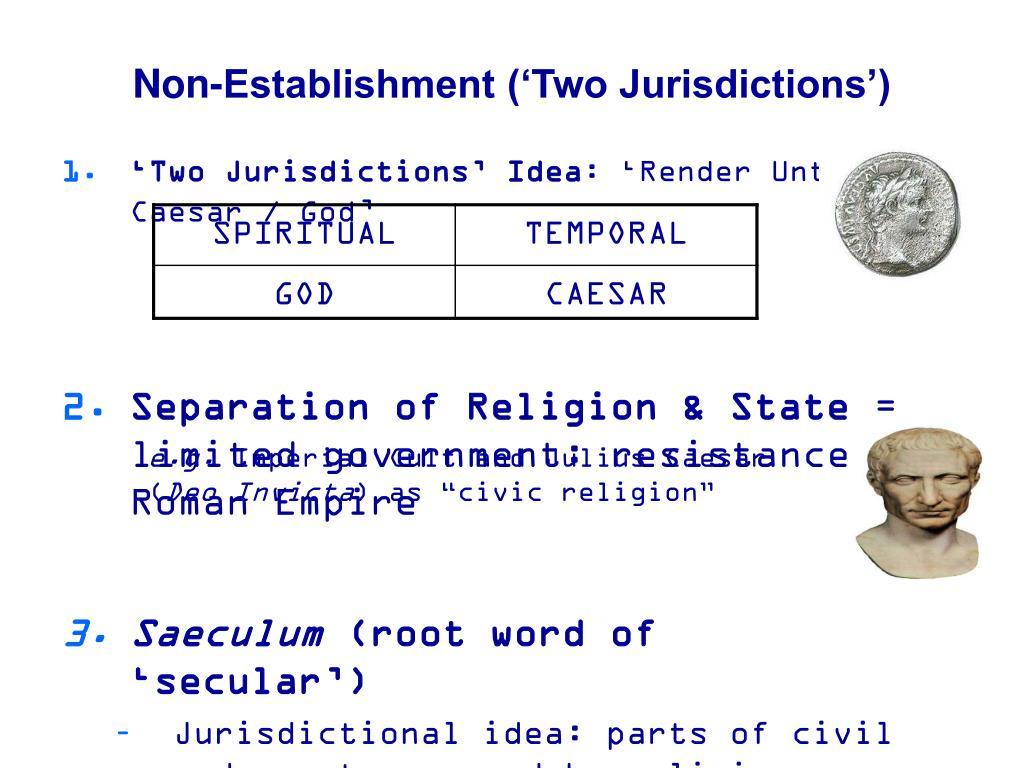 Non-Establishment ('Two Jurisdictions')