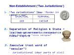 non establishment two jurisdictions