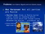problems non islamic litigants and non islamic issues