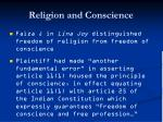 religion and conscience