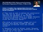 religion malaysia rediscovering secularism by baradam kuppusamy ips news 14 march 2006