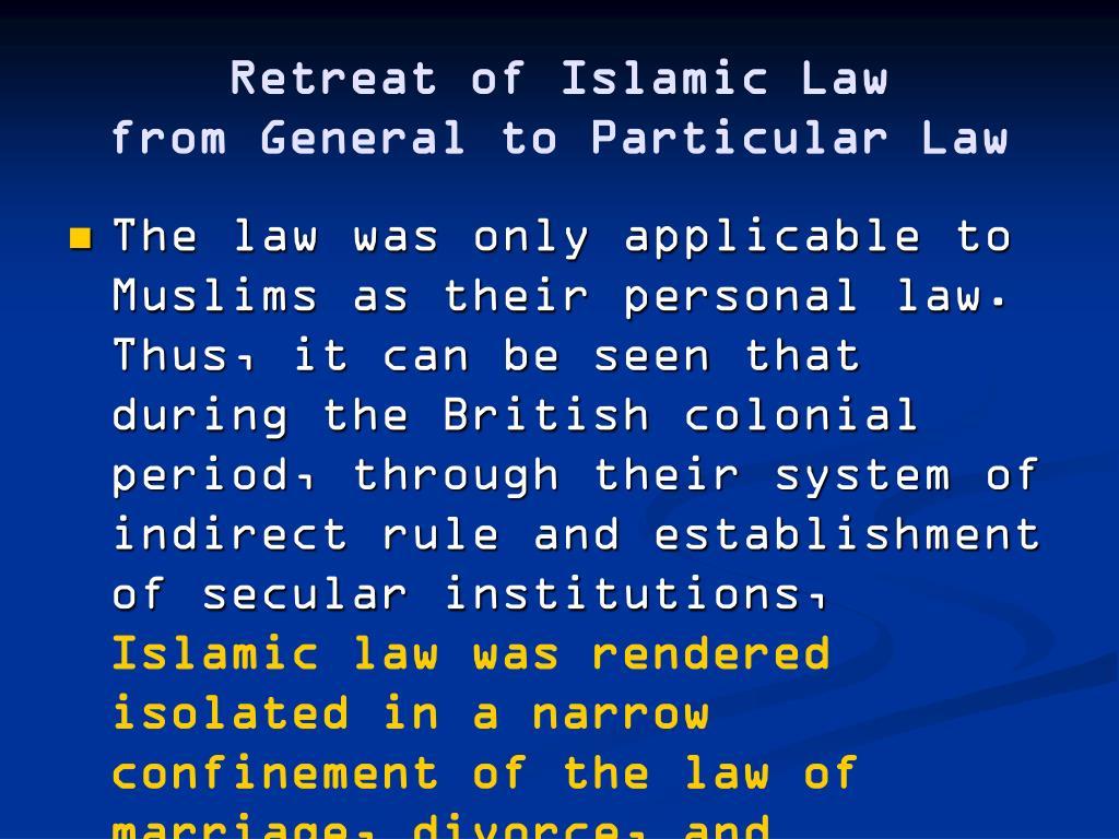 Retreat of Islamic Law