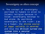 sovereignty as alien concept