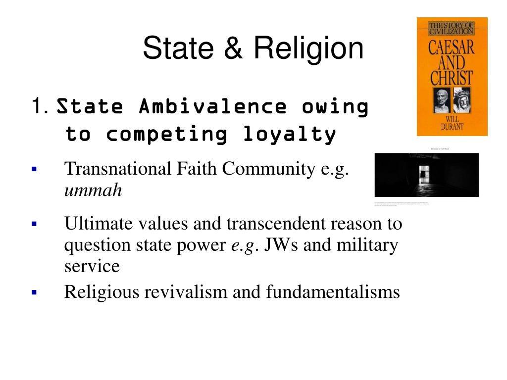 State & Religion