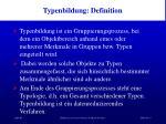 typenbildung definition