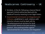 headscarves controversy uk