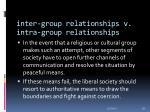 inter group relationships v intra group relationships29