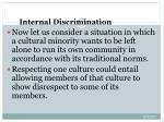 internal discrimination