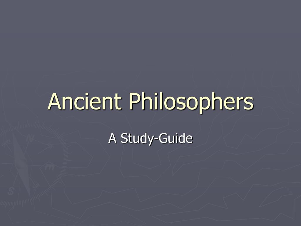 ancient philosophers l.