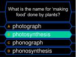 what is the name for making food done by plants12