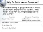 why do governments cooperate