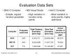 evaluation data sets