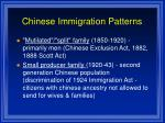 chinese immigration patterns