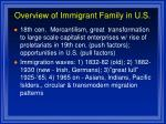 overview of immigrant family in u s