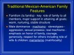 traditional mexican american family features