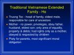 traditional vietnamese extended family ho