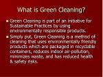 what is green cleaning