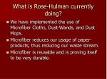 what is rose hulman currently doing