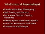 what s next at rose hulman
