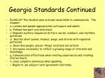 georgia standards continued10