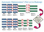 automatic optimization not yet in hadoop