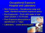 occupational exposure hospital and laboratory