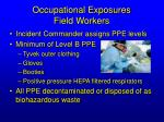 occupational exposures field workers