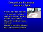 occupational exposures laboratory spills