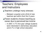 teachers employees and instructors