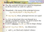 isotropic stress