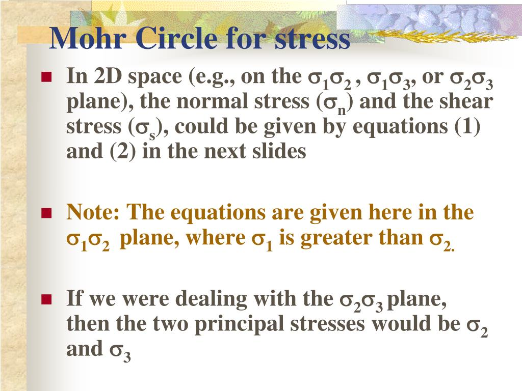 mohr circle for stress l.