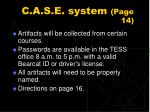 c a s e system page 14