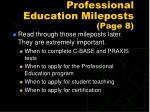 professional education mileposts page 8