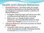 health and lifestyle behaviors