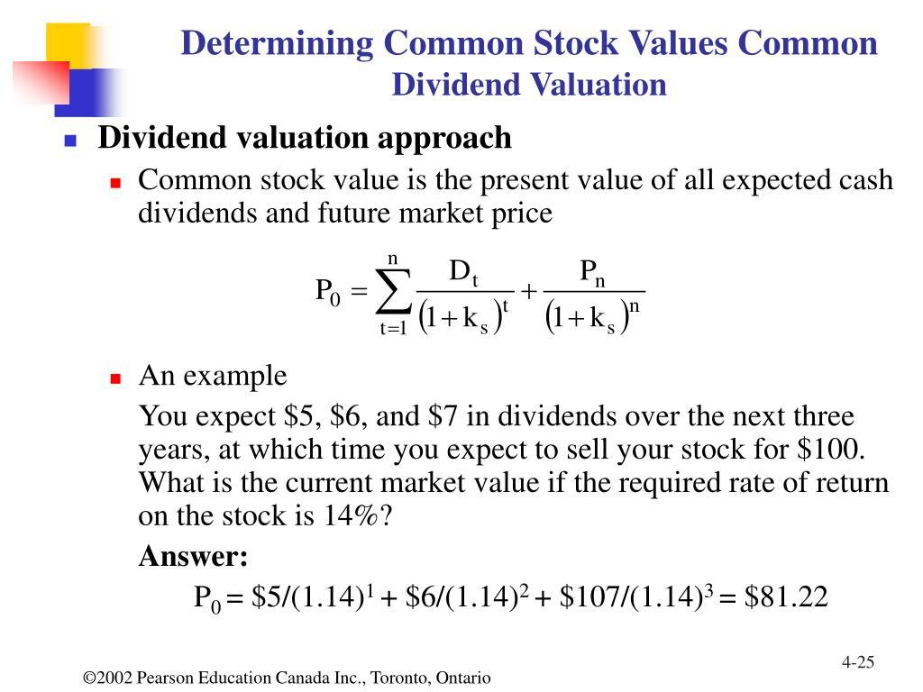 Determining Common Stock Values Common