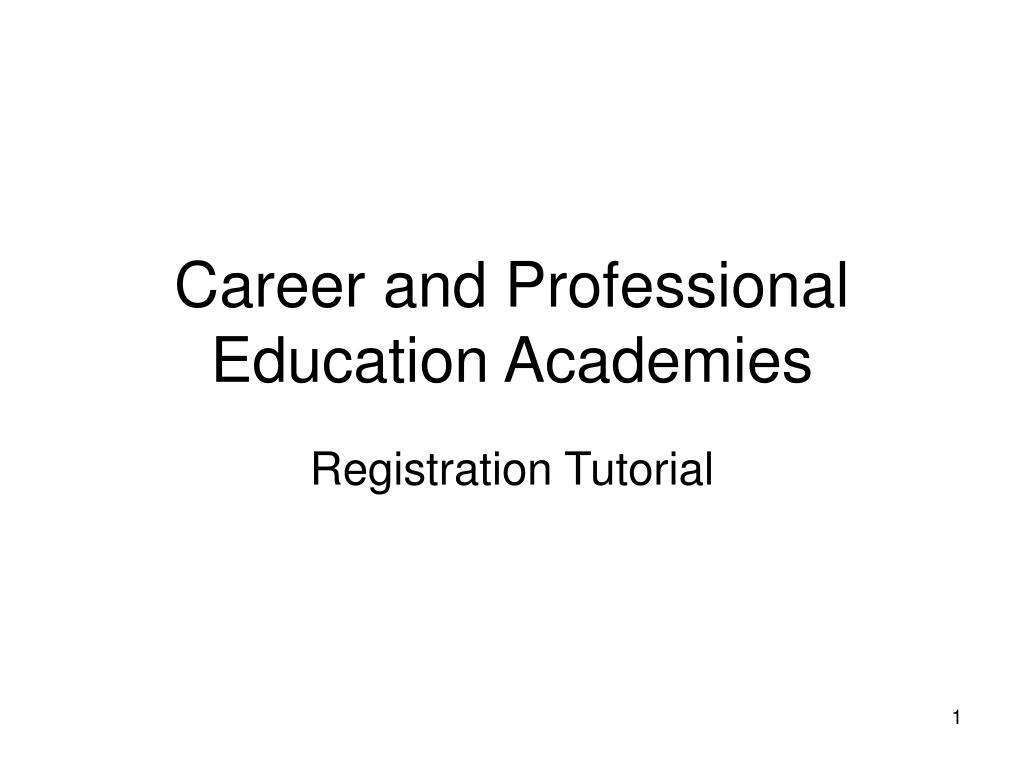 career and professional education academies l.