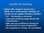 levels of nursing