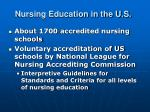 nursing education in the u s