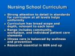 nursing school curriculum