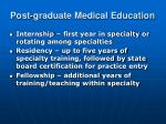 post graduate medical education