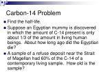 carbon 14 problem