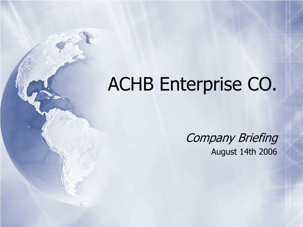 achb enterprise co l.